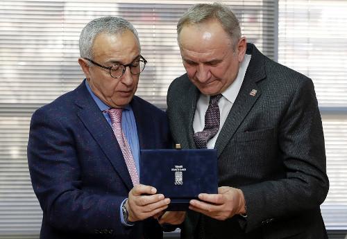 Na zdjęciu odlewej: Alejandro Blanco iAndrzej Kraśnicki