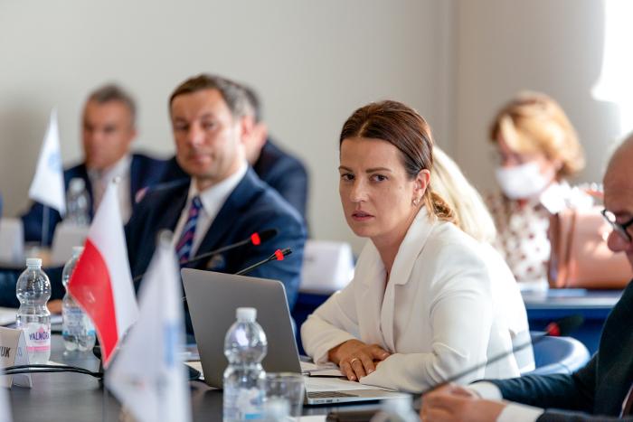 Minister Sportu Danuta Dmowska-Andrzejuk/Fot.: EOC – Fabio Bettini